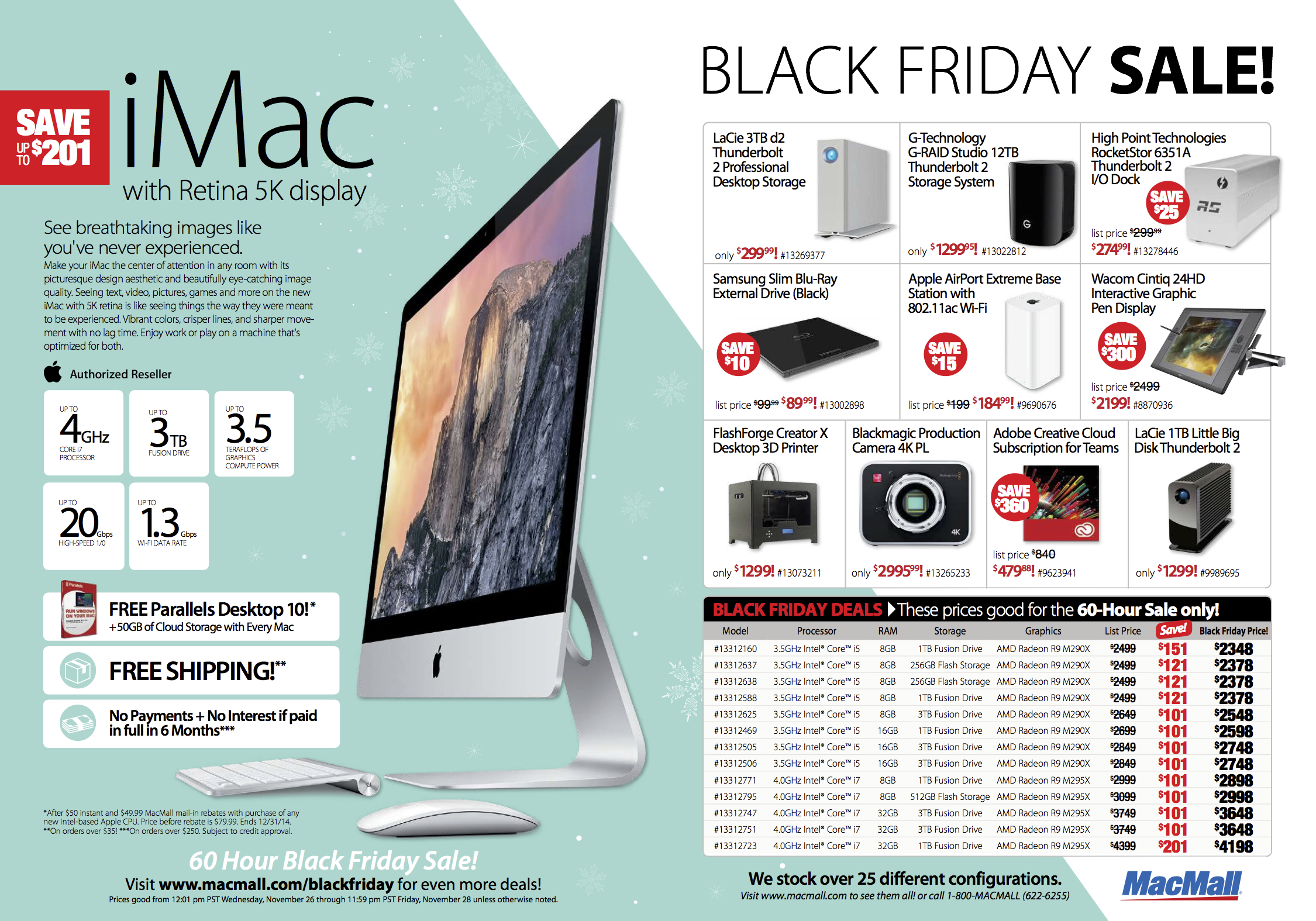 MacMall's Black Friday sale features savings of up to 86% on the largest selection of Macs, iPads, more