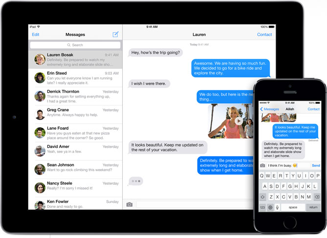 Apple iMessage Messages iOS 8