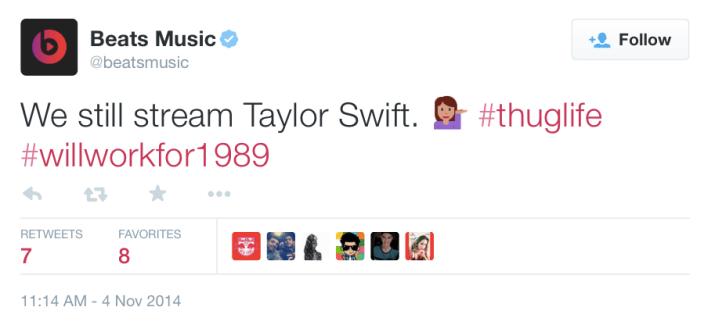 Beats Taylor Swift