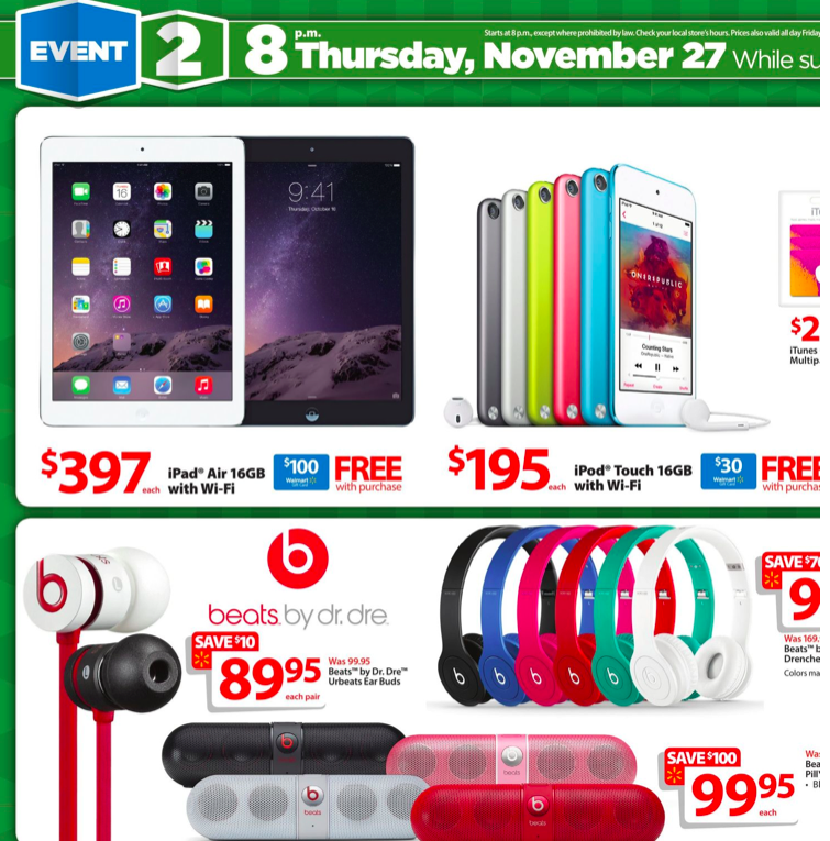 Black friday deals on ipad mini at walmart
