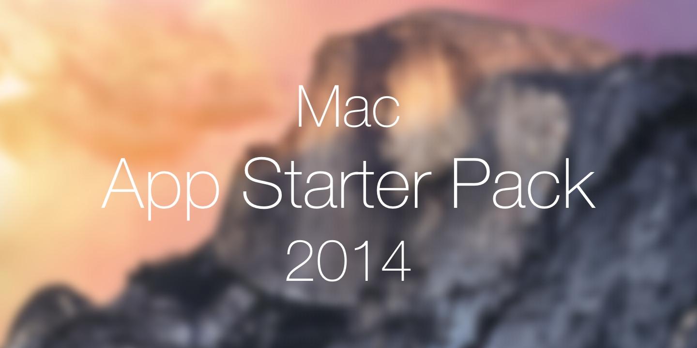 App Starter Pack Mac 2014