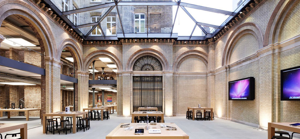 Covent Garden, London – one of the largest Apple Stores in the world