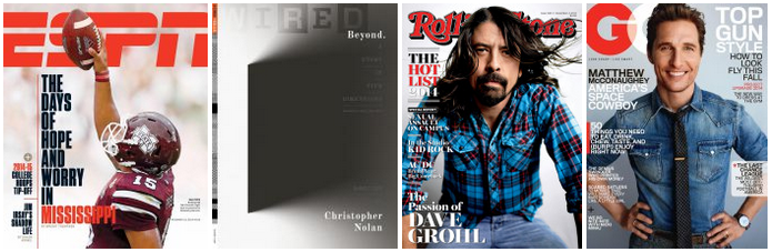 Magazine sale-4 for 16-Wired-GQ-ESPN-more