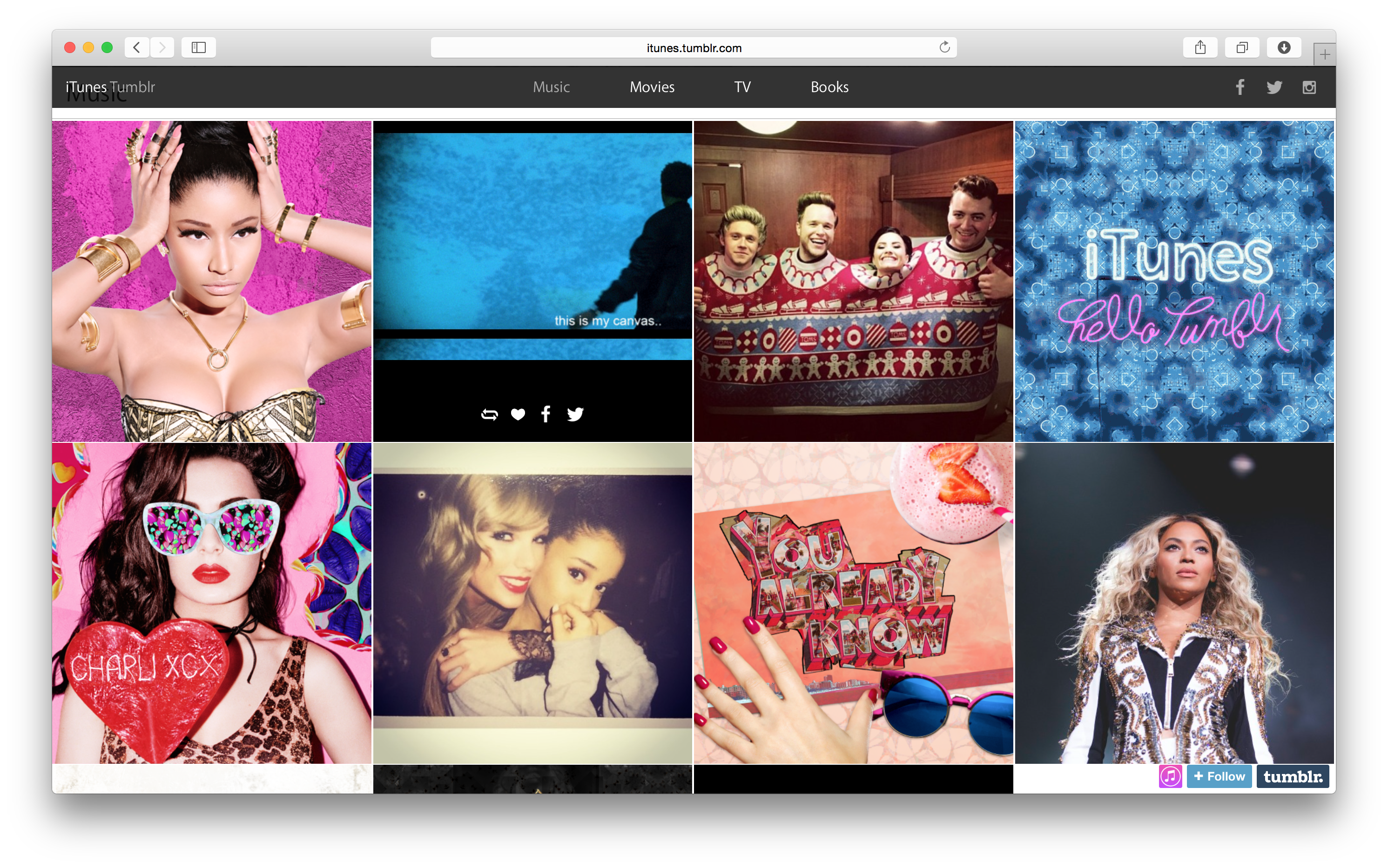 Apple expands its social presence with new iTunes Tumblr blog