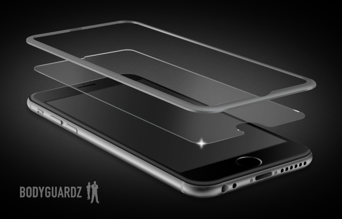 BodyGuardz uses an aluminum bezel to tackle the iPhone 6 screen protector problem