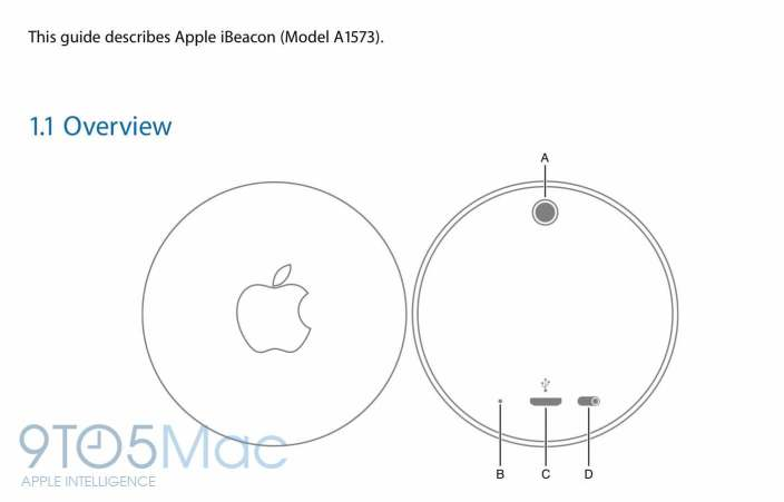 Apple's unreleased iBeacon hardware exposed in user manual