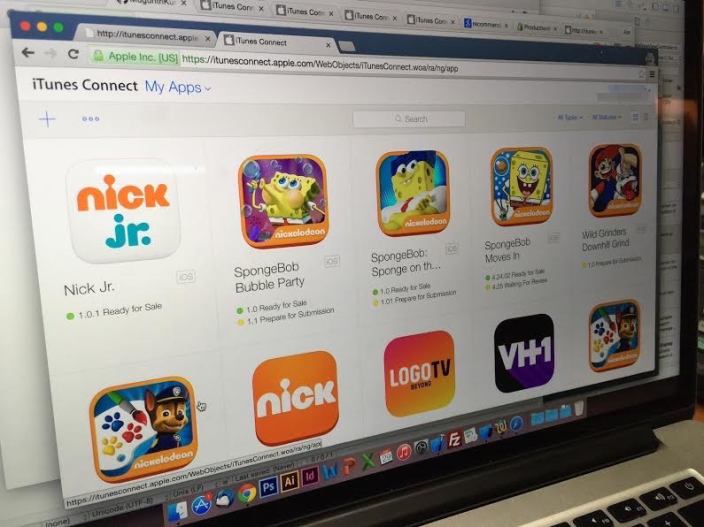 iTunes Connect Viacom Nick