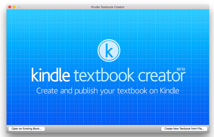 Kindle Textbook Creator Beta Mac