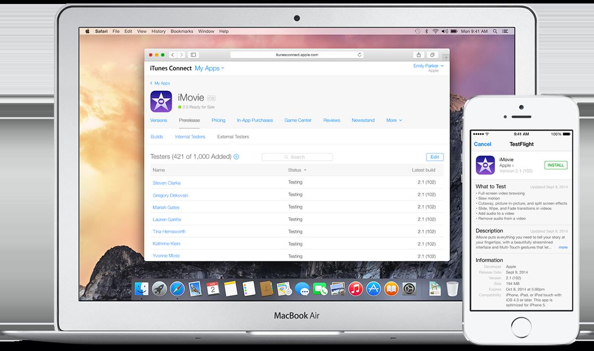 TestFlight iTunes Connect