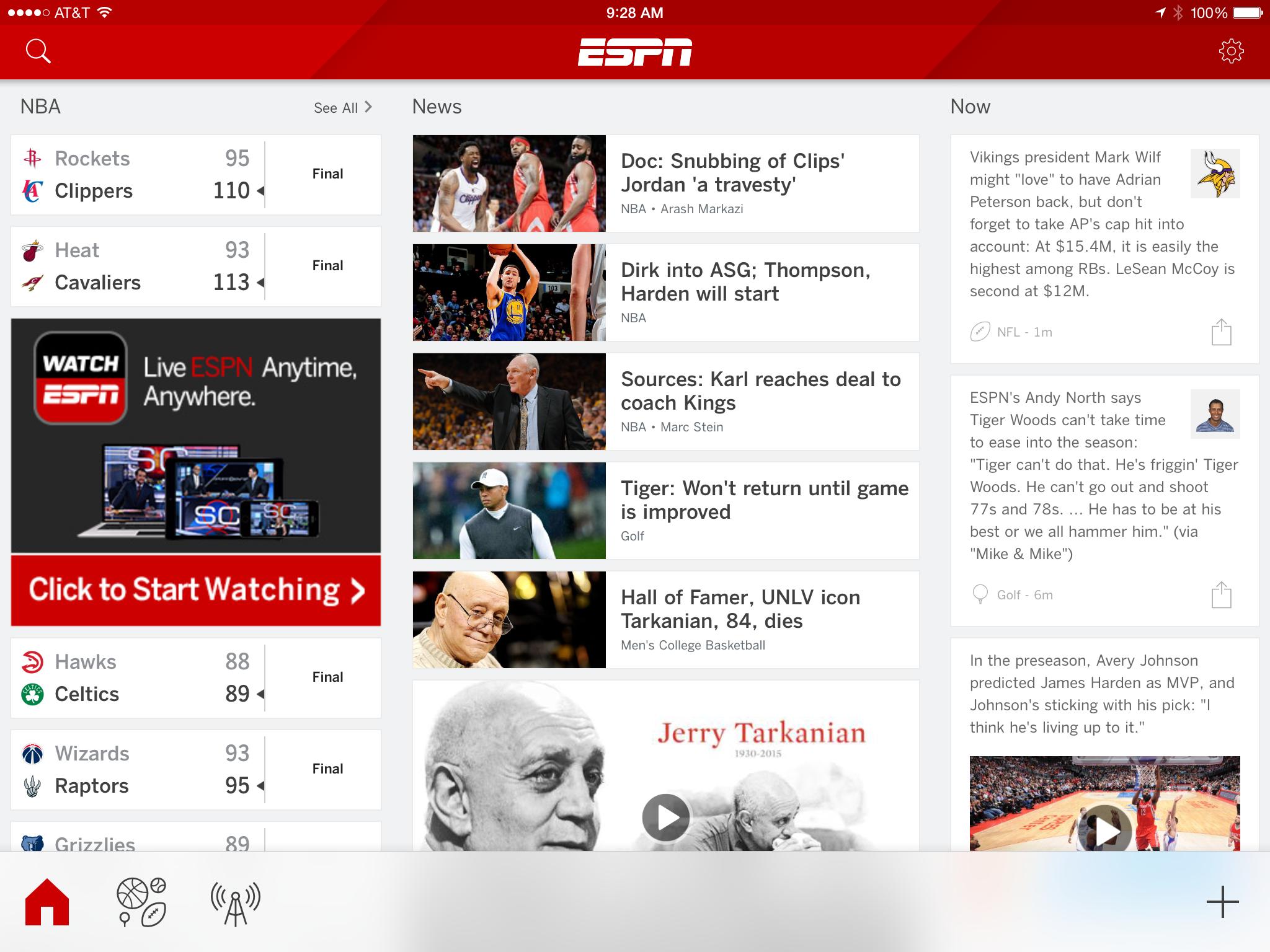 ESPN iPad 1