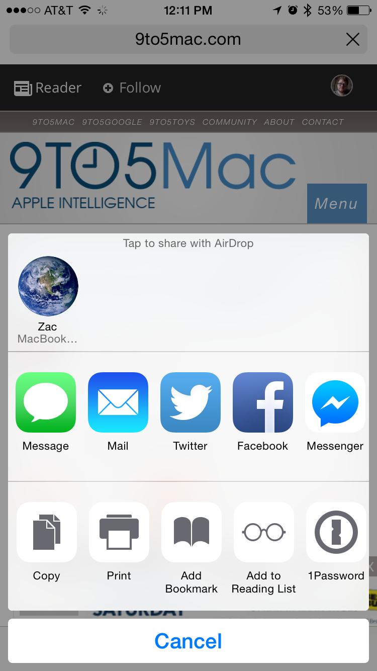 Facebook Messenger adds iOS 8 extension, Wordpress gains