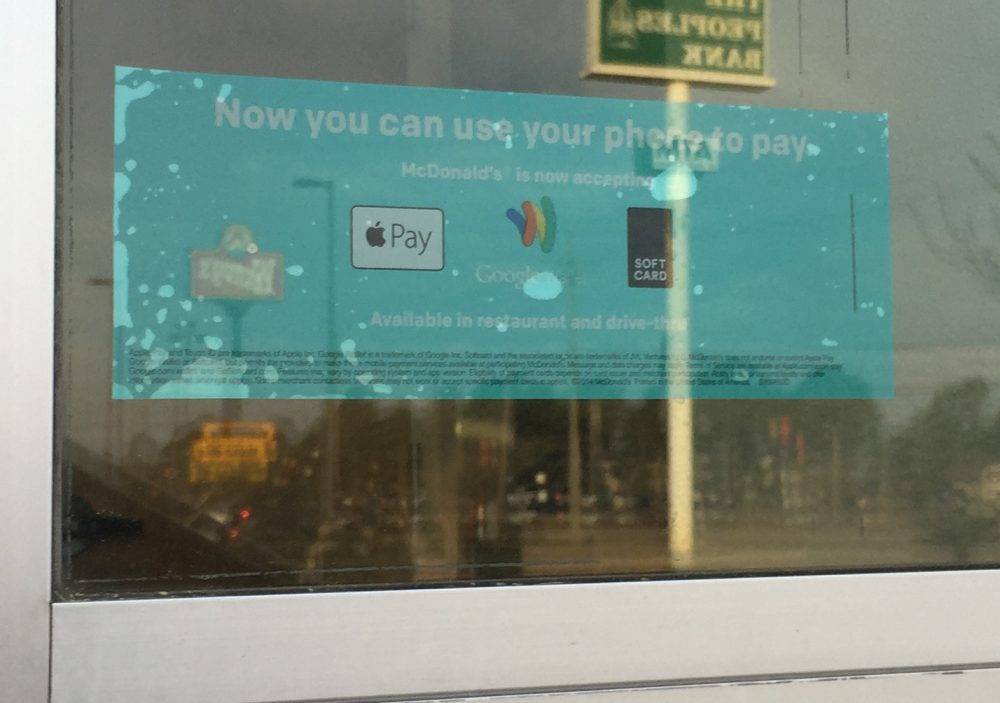 Apple Pay McDonalds Drive Through