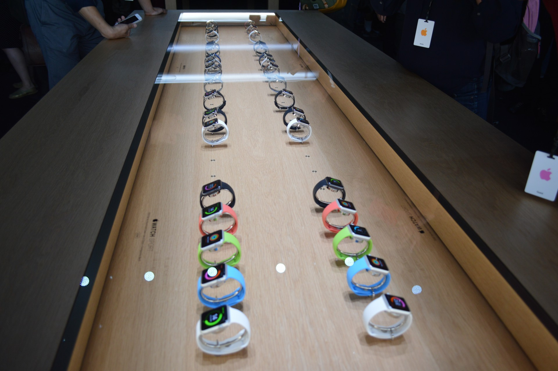 Apple Watch hands on table from September