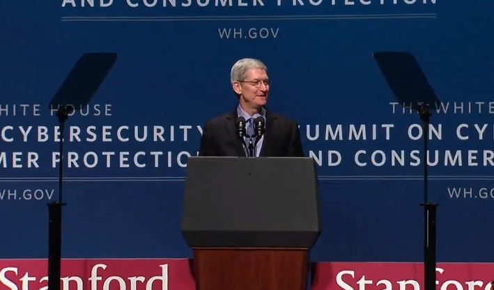 Tim Cook White House Summit on Cybersecurity