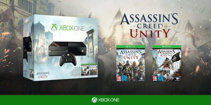 Xbox One Bundle with Assassin's Creed Unity and Assassin's Creed IV- Black Flag-sale-01