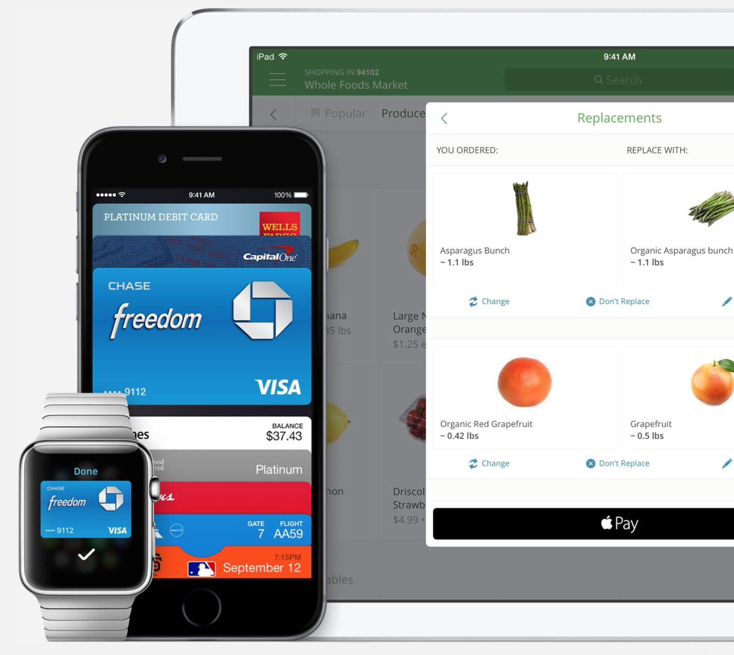 Apple Pay Watch iPhone iPad