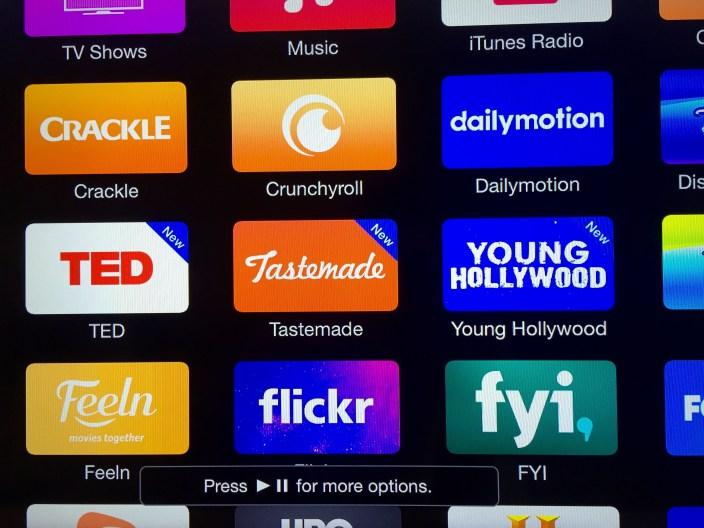 Apple TV rearrange