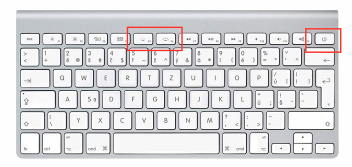 Apple Wireless Keyboard backlit keys power