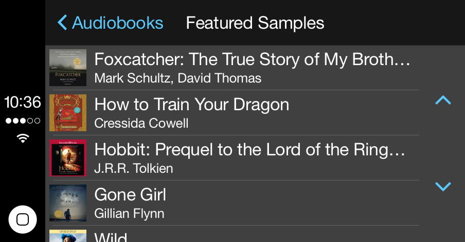 Carplay Support Added To Audio Books Iphone App For Listening On The