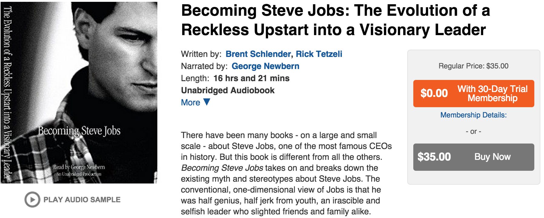 Becoming Steve Jobs-Audiobook-audible