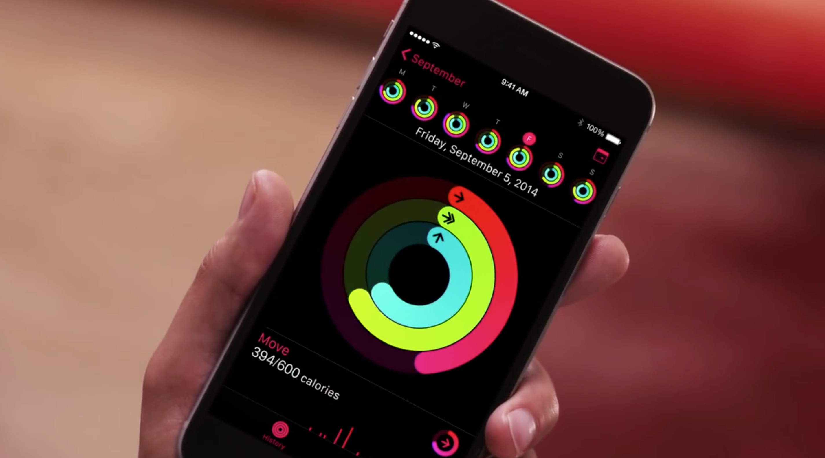 iPhone Fitness app