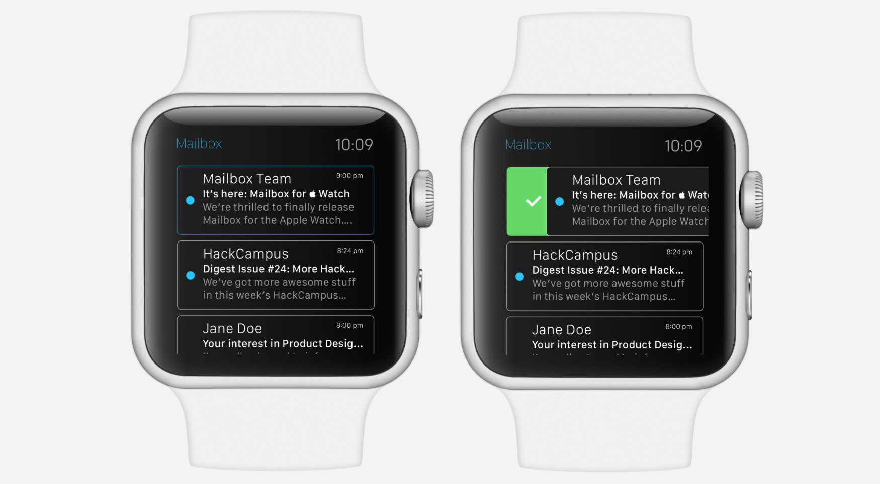 Mailbox for Apple Watch Dribble Concept
