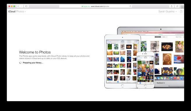 iCloud Photo Library Preparing
