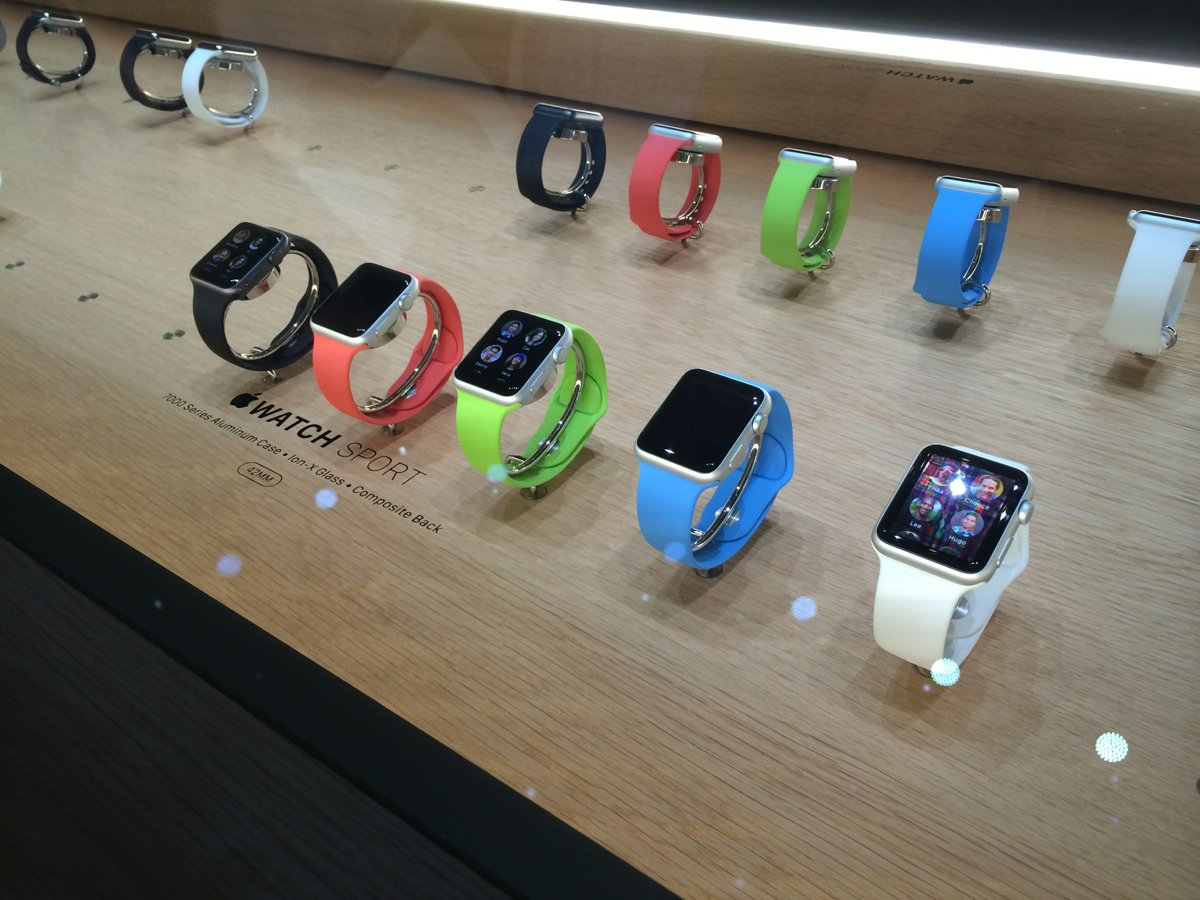 Apple Watch table from Event - BusinessInsider