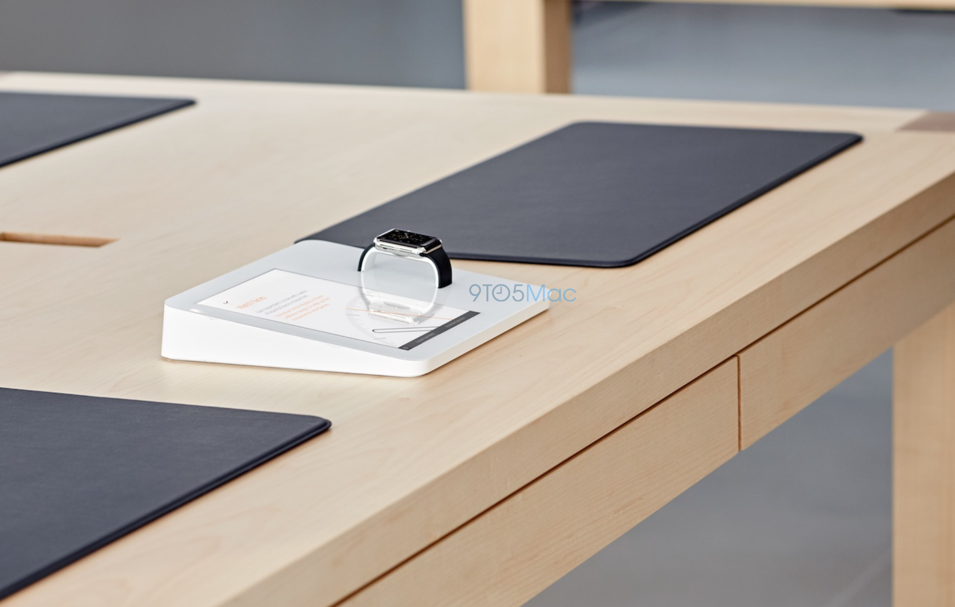 Apple Store Revamp For Apple Watch Revealed Magical Display - Table pad store