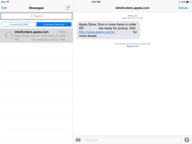 Unknown iMessage Senders
