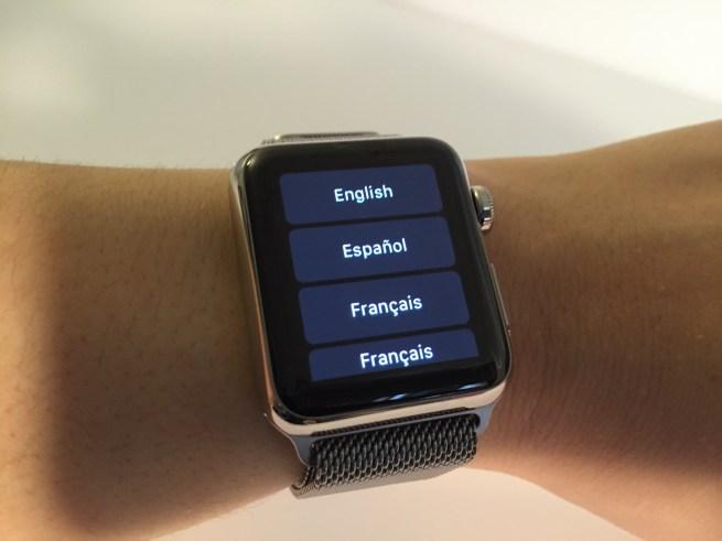 Apple Watch language settings
