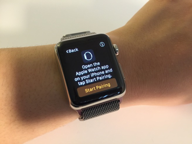 Apple Watch prompts to open up the Apple Watch app on iPhone