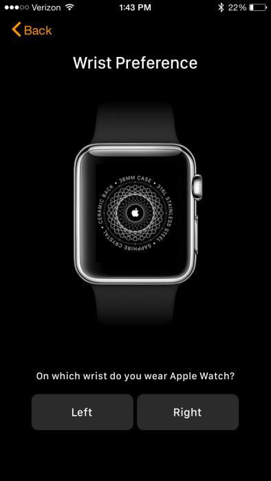 Apple Watch App Wrist Preference