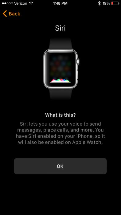 Apple Watch App Siri