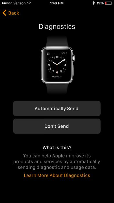 Apple Watch App Diagnostics and Usage
