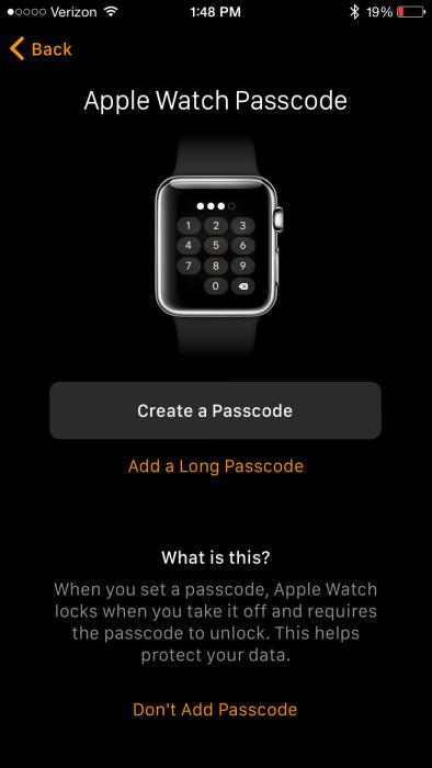 Apple Watch App Passcode