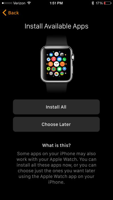 Apple Watch app install apps