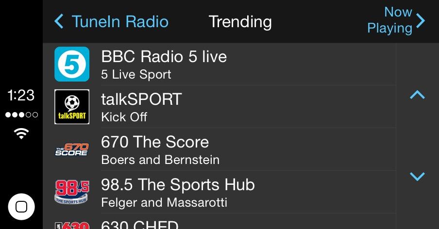 TuneIn Radio adds real radio stations to CarPlay + Apple