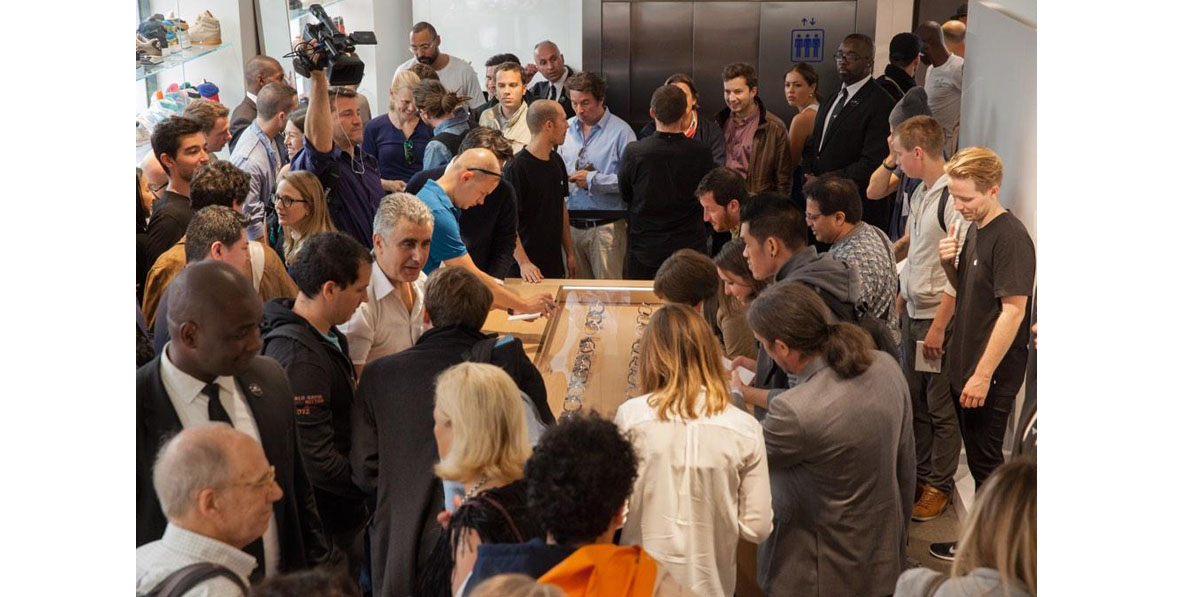 A previous visit to Paris by Tim Cook to promote the Apple Watch