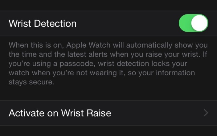 Apple Watch Setting