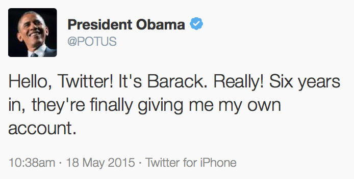 Obama iPhone Tweet