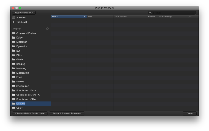 Plug-In Manager-New Folder-The Logic Pros