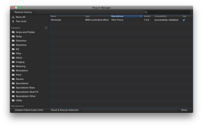 Plug-In Manager-Top Level-The Logic Pros