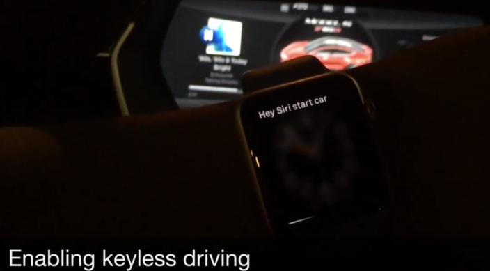 Apple Watch Tesla Model S