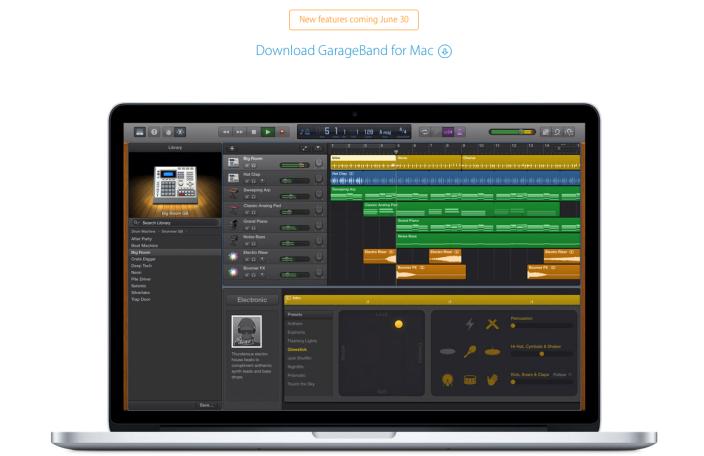 GarageBand Mac