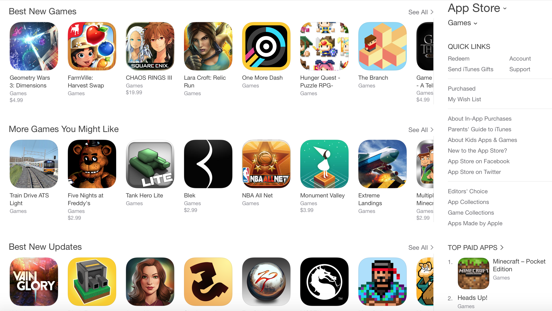 Apple App Store Games