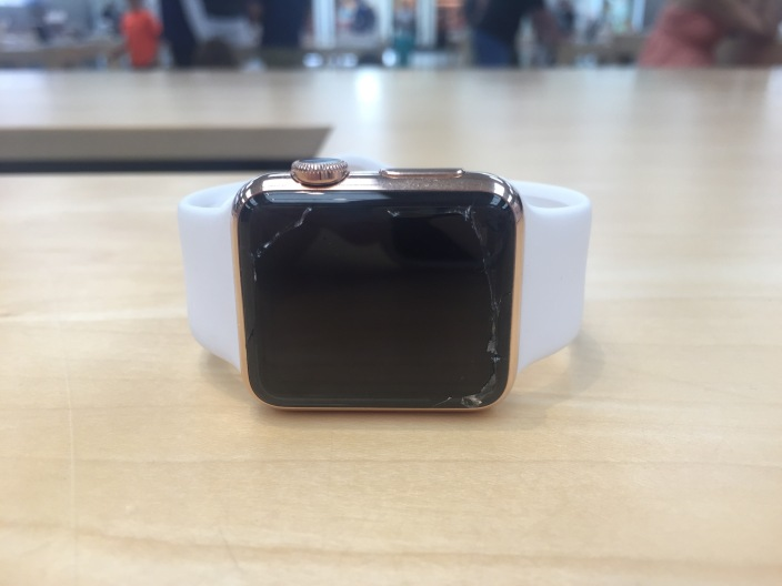 Apple Watch screen cracked