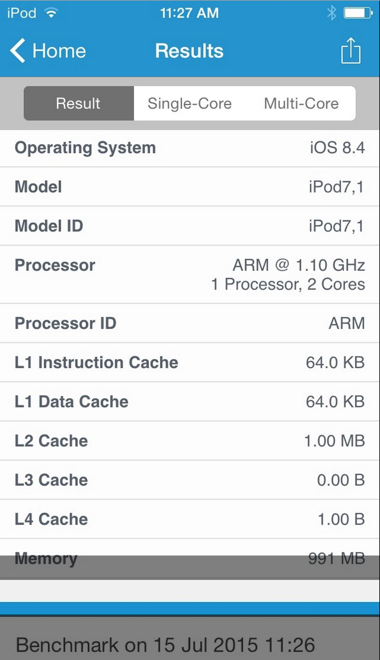 ipod benchmarks
