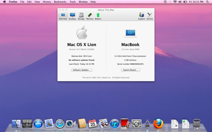 Even though it's four years old, OS X Lion looks pretty familiar