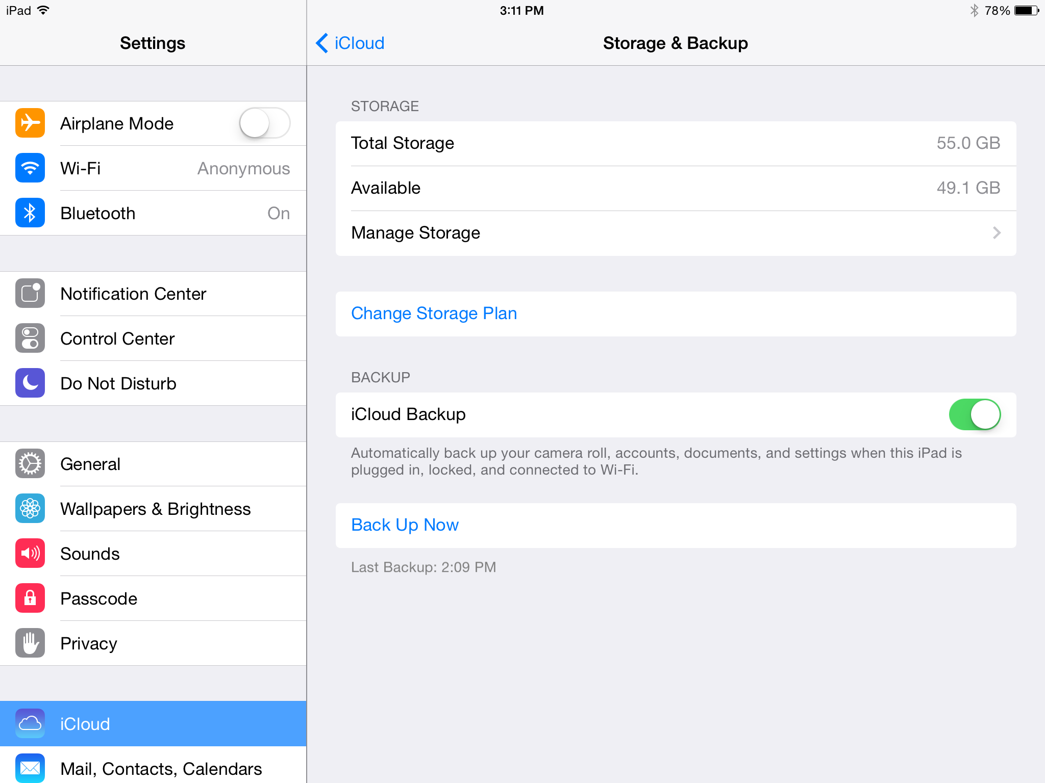 how to see data fstored on icloud